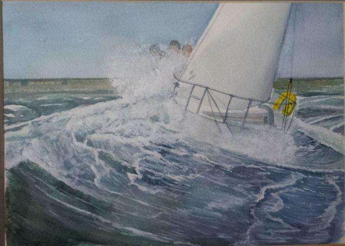 Sailing Water Sea Watercolour