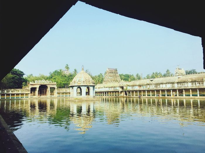 temples ❤️❤️ Architecture Built Structure Building Exterior Water Reflection Day Outdoors Clear Sky History No People Architectural Column Nature Ancient Civilization