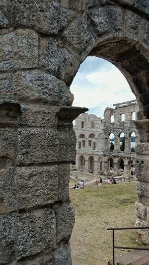 Croatia Pula Croatia Ancient Civilization Old Ruin Ancient History Arch The Past Stone Material Monument Architecture Sky