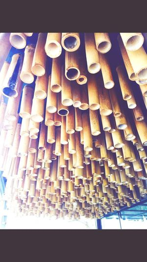 Row of bamboo decration
