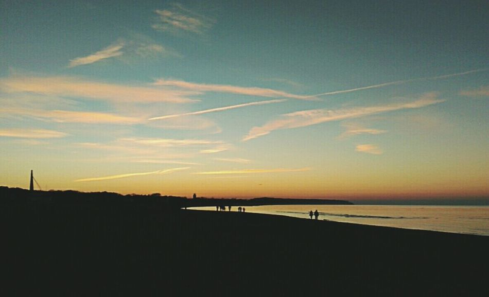Sunset Baltic Beauty In Nature Sky Beach Outdoors Cloud - Sky Nature Day Horizon Over Water Water Nature Photography Wintertime ⛄ Cold Days Early Sunset Sunday Walk Flightline Cold Sunset Cold Sunny Day Cold Season Warnemünde Rostock