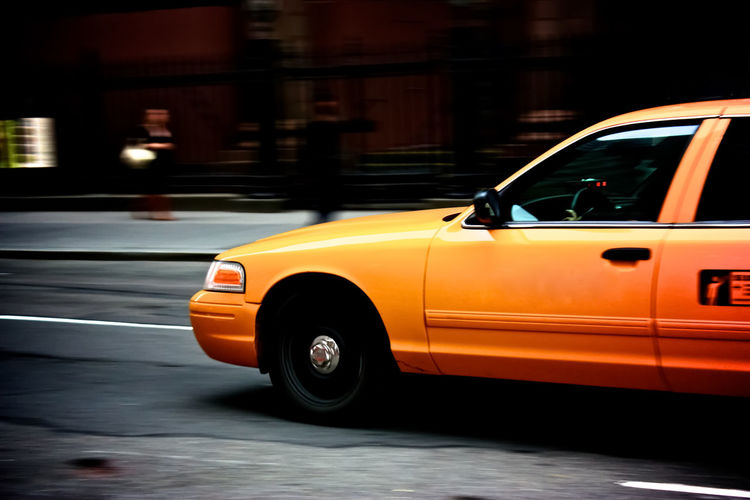Car City Land Vehicle Mode Of Transport New York City Night No People Outdoors Taxi Transportation Urban