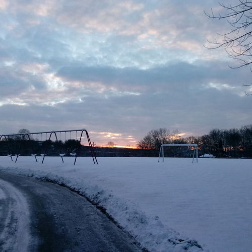 Swings With A View Ice Hockey Hockey No People Nature Outdoors