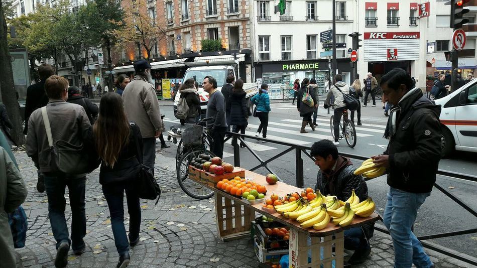 Illegal street market in Paris Chance Encounters Colors Colors and patterns Fruits Market Paris, France  Street Life Street Market In Paris
