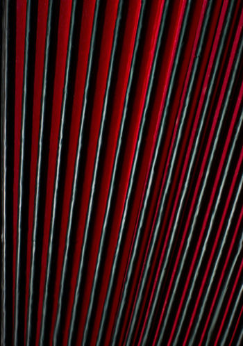 Accordion bellows. Extreme closeup of accordion bellows in red and black, vertical image, for background texture. Music Abstract Accordion Backgrounds Bellows Close-up Closeup Full Frame LINE No People Pattern Red Striped Textured