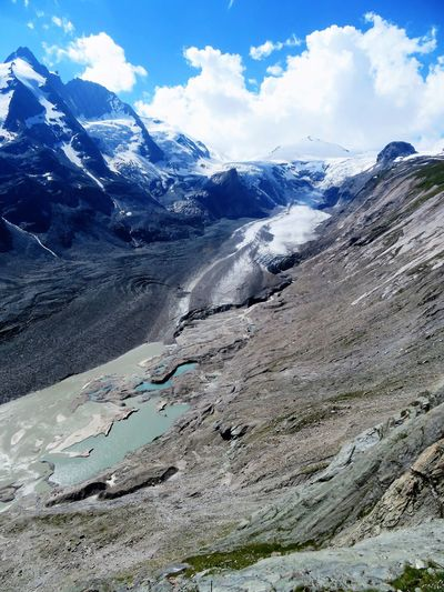 Alps Austria Beauty In Nature Climbing Geology Glacier Global Warming Grossglockner Ice Johannisberg Lake Landscape Melting Mountain Range Pasterze Peak Physical Geography Rocky Mountains Snow Tour Tranquil Scene Travel Destinations Trip Photo Valley Waterfall