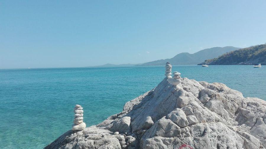 Greece my love. Clear Sky Rock - Object Outdoors Beauty In Nature Relaxation Scenics Horizon Beach Vacations Water Sea Travel Destinations Travelphotography Wanderlust Reisefieber Urlaub & Reisen