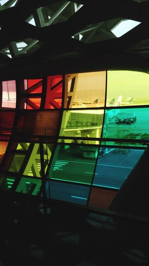Window Reflection Text Indoors  Transportation Communication Illuminated Architecture Close-up Sky Low Angle View Built Structure Day No People