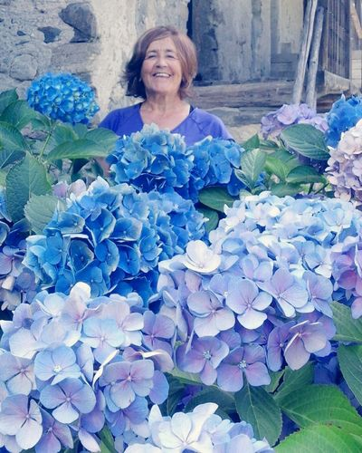 Flower Florist Portrait Smiling Women Happiness Cheerful Looking At Camera Senior Adult Beautiful Woman