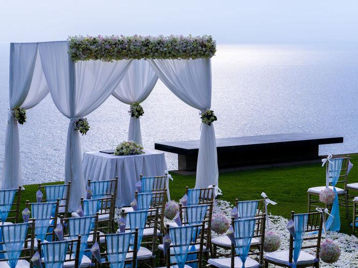 Arrangement Day Horizon Over Water Nature No People Sky Sunlight Tranquil Scene Wedding