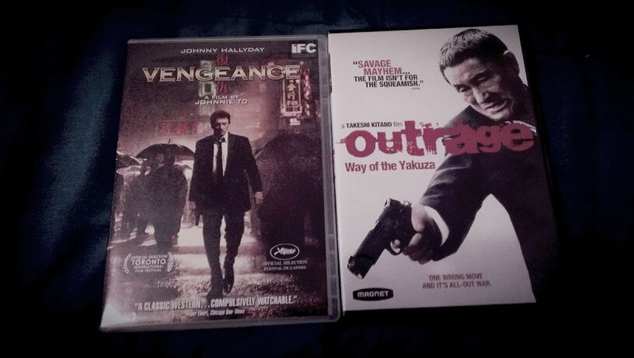 Vengeance Johnny Hallyday  Hong Kong Cinema  Outrage  Johnnie To  Takeshi Kitano  Japanese Cinema