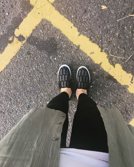 Low Section Road Marking Road Person Transportation Shoe Street Personal Perspective Standing Asphalt Footwear Day Outdoors Limb