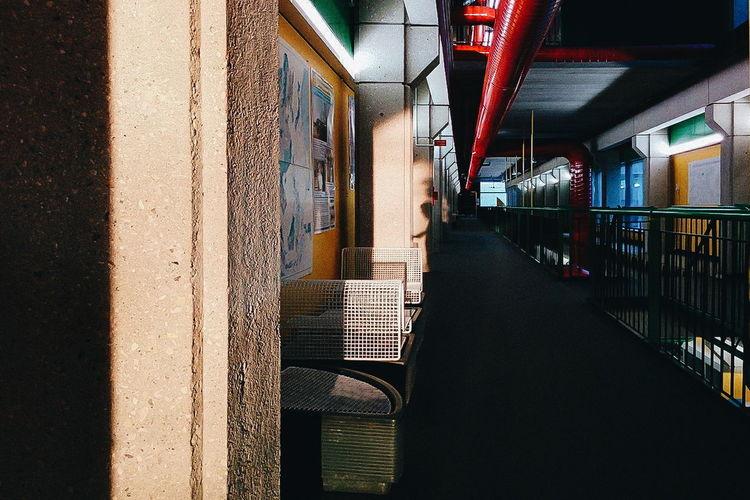 Corridor in building