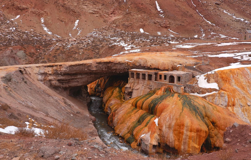 View of rock formations bridge
