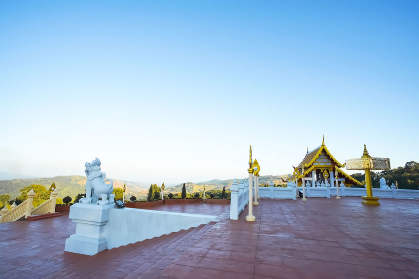 "Beautiful temple in Thai named call ""Wat Phra Thad Santidham"" Chiang Rai Doi Mae Salong Pagoda Thailand Wat Phra Thad Santidham Wat Phra Thad Santidham Temple Architecture Built Structure Outdoors Travel Destinations"