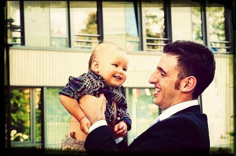 Luke having fun with uncle Karim