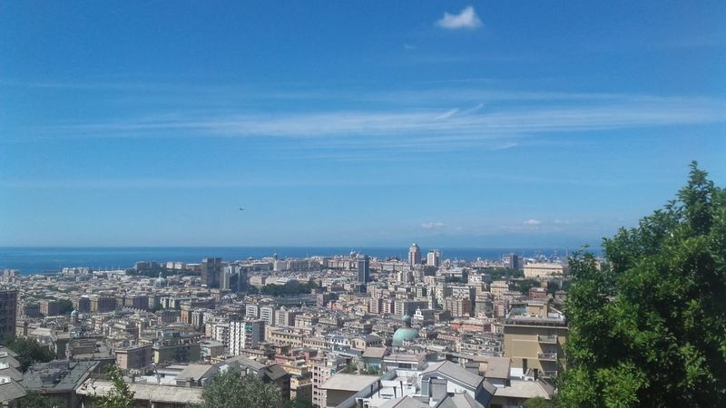 From My Point Of View Cityscape Sea View Genova Italy Italian_city Liguria Genovadallalto