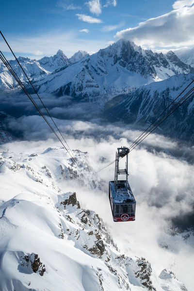Alpine Cable Car Adventure Beauty In Nature Cloud - Sky Cold Temperature Day Frozen Landscape Mountain Mountain Range Nature Outdoors Scenics Sea Of clouds Ski Holiday Ski Lift Ski Resort  Skiing Snow Snowcapped Mountain Transportation White Color Winter