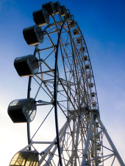 The Ferriswheel Blue Day Sky No People Outdoors Built Structure Ferriswheelinthecity🎡🎢 Ferriswheel Ferris Wheel