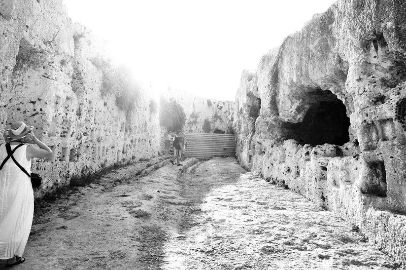 Parco Archeologico Siracusa Teatro Greco - Siracusa Blackandwhite Sicily