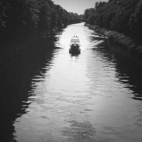 Boat in river canal