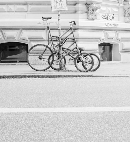 steel life Altona Bike Bikes Black And White Photography Blackandwhite Building Exterior Exotic Bike Eye4black&white  EyeEm Best Shots Fahrrad Fahrräder Fassade Hamburg Hamburg Streetphotography Mode Of Transport No People Parking Schwarzweiß Still Life Straßenfotografie Street Streetphoto_bw Streetphotography Taking Photos Walking Around