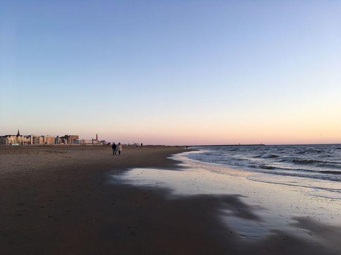Bald sehen wir uns wieder 🌊 Beach Sand Sea Beauty In Nature Sunset Clear Sky Traveling Wanderlust Ocean Coast Outdoors EyeEm Best Shots