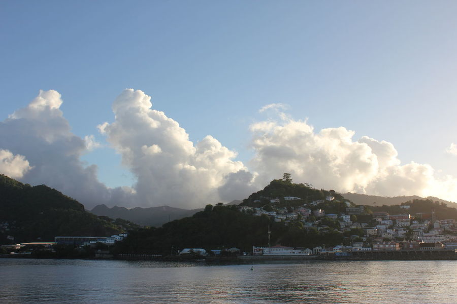Sunrise @ Saint George's on Grenada Architecture Beauty In Nature Building Exterior Built Structure Caribbean Sunrise Cloud - Sky Day Grenada Mountain Nature No People Outdoors Scenic Caribbean Scenics Sky Sun-up Sunrise Sunrise And Sea Sunrise N Sunsets Worldwide  Sunup Water