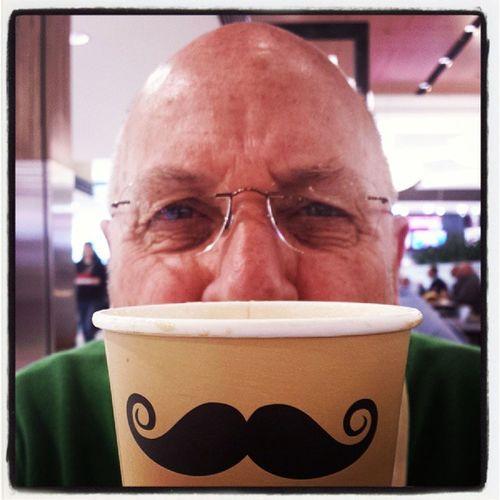 Grumpy Moustached man