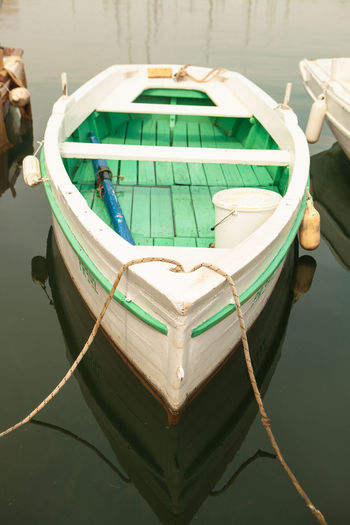 Boat Calm Water Old Rowboat Still Life