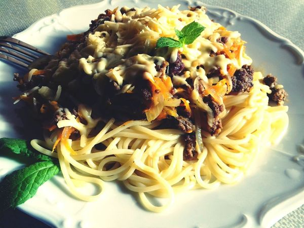 Food Vegetable Meal Indoors  Indulgence Wellbeing Healthy Eating No People Herb Serving Size Italian Food Spaghetti Freshness Pasta Savory Food Sauce Food And Drink Plate Close-up Ready-to-eat Saint Petersburg 28-09-2018