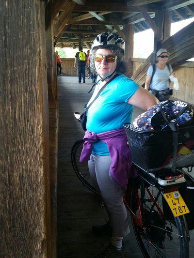 Fahrradtour Bike Trip Mywife Lucerne Old Bridge On Your Bike VEO-Bike