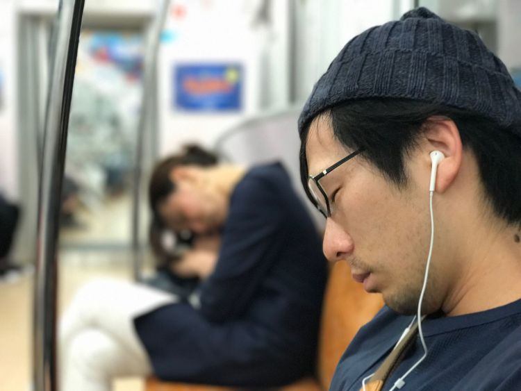 Notes From The Underground Transportation Public Transportation In-ear Headphones Subway Train One Person Real People Commuter