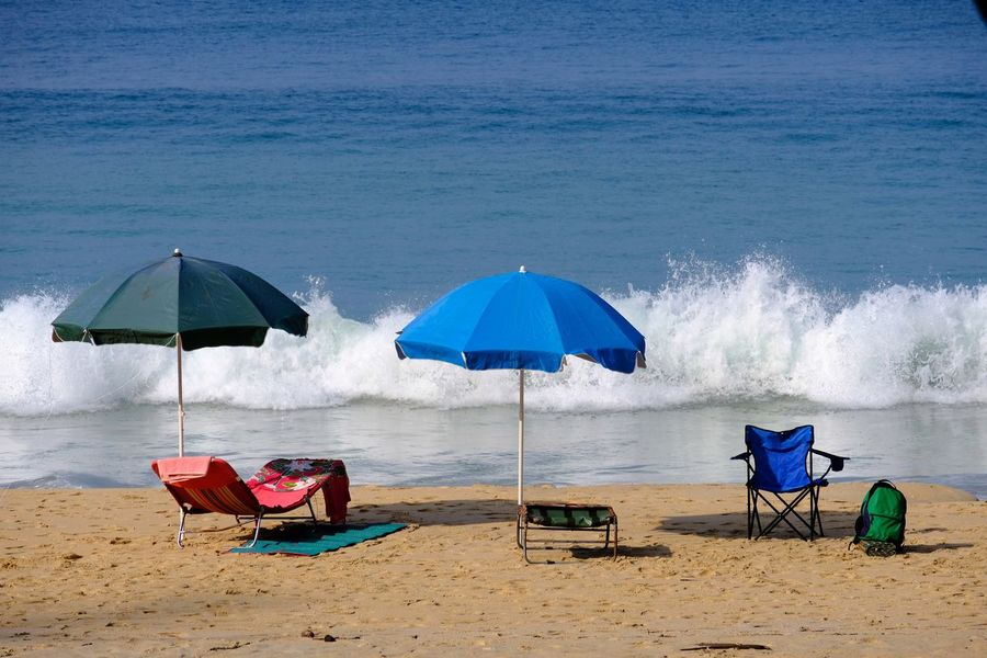 Blue Waves Relaxing Holiday Memory Colorful Travel Tourism Umbrellas White Honeymoon Colorful Sand Beach Tourist Sun Background Beach Sand Sea Water Summer Vacations Horizon Over Water Nature Relaxation Outdoor Chair Outdoors Day Beauty In Nature Sky Summer Exploratorium Summer Exploratorium