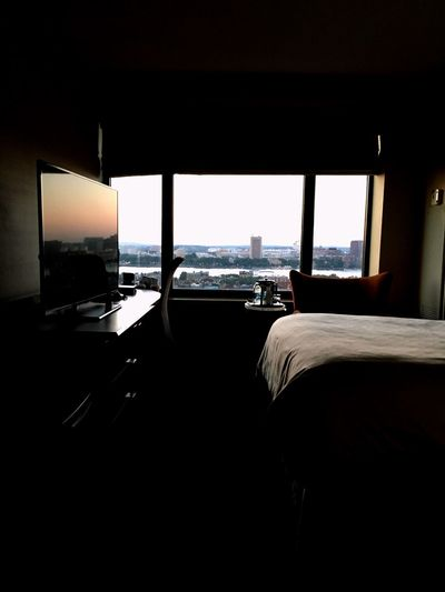 Sunset Window Hotel Room Room Hotel Water Architecture Indoors  Sea Sky Built Structure Window No People City Travel Seat Silhouette Horizon Day Chair Horizon Over Water