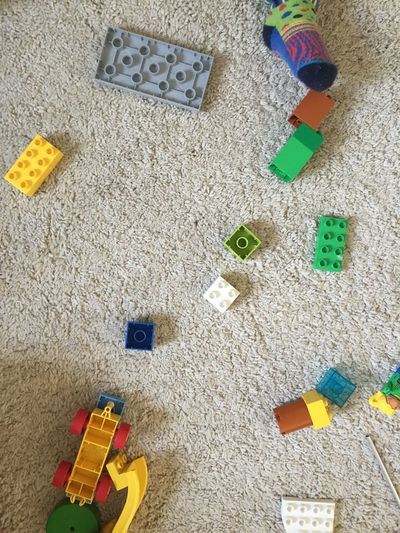 Carpet Duplo Indoors  LEGO Play Shot From Above  Toys Toysphotography