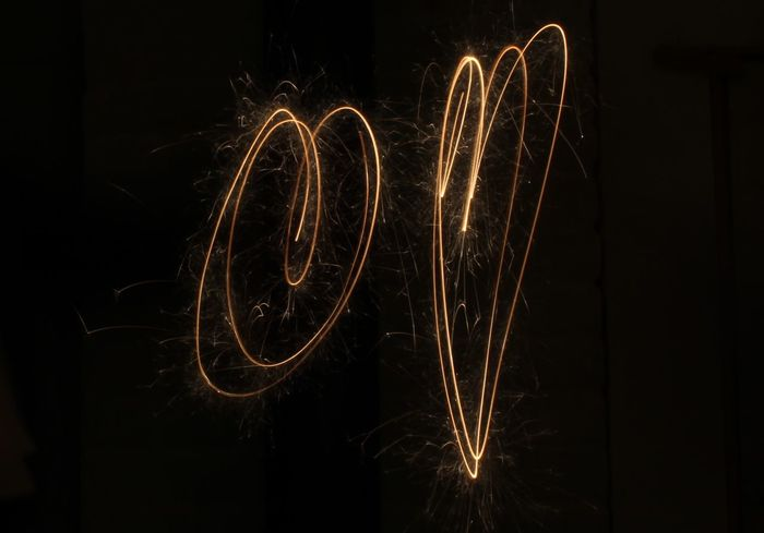 #2017 2017 🍾🎇🎉❤ Celebration Close-up Firework - Man Made Object Firework Display Illuminated Long Exposure Low Angle View Motion Night No People Outdoors Sparkler Sparks Wire Wool