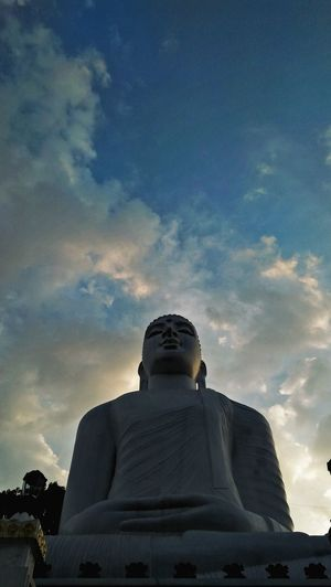 Architecture Religion Arts Culture And Entertainment Statue Sculpture Outdoors Day Sky Sunset Travel Destinations No People Sun Cloud - Sky City Lord Buddha Buddhism Buddha Statue Kandy Travelling Natural Srilankatravel Storm Cloud Built Structure SriLanka Architecture