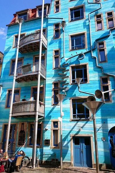 crazy house Alternative Art Apartment Architecture Art Balcony Blue Sky Building Exterior Built Structure City City Life Conjunction Crazy House Windows Minimalist Architecture