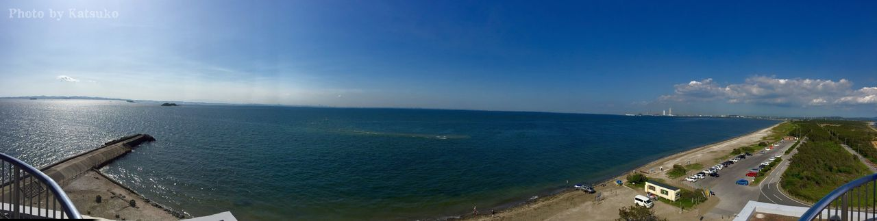 sea, sky, water, transportation, day, horizon over water, cloud - sky, nature, scenics, outdoors, beach, beauty in nature, blue, no people, panoramic, fish-eye lens