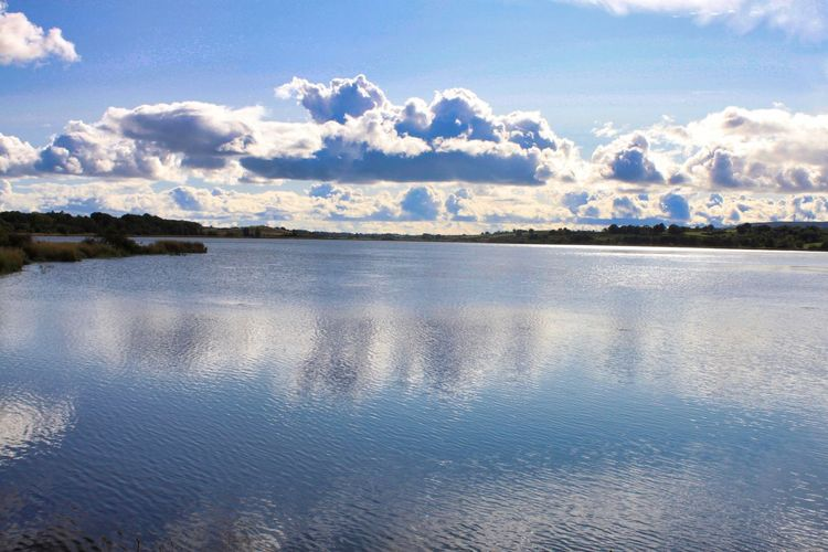 Tree Water Blue Lake Mountain Reflection Sky Landscape Cloud - Sky Sky Only Calm Farmland Tranquil Scene Countryside Tranquility Cumulus Cloud