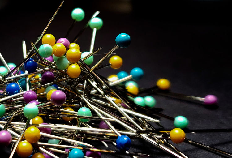 Multi Colored Sewing Close-up Straight Pin Sewing Item Needlecraft Product