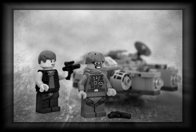 Third and final version ! Han Solo LEGO Lego Minifigures Bnw_worldwide Bnw_collection Blackandwhite Photography Star Wars Millenium Falcon