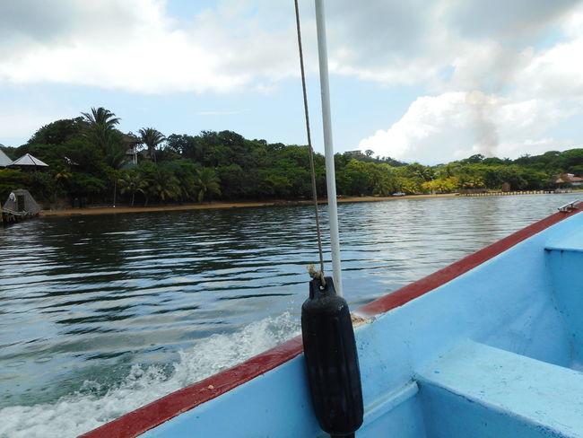 Honduras Roatan Bay Islands Boat Cloud - Sky Day Mode Of Transport Moored Nature Nautical Vessel No People Outdoors River Sky Transportation Tree Water
