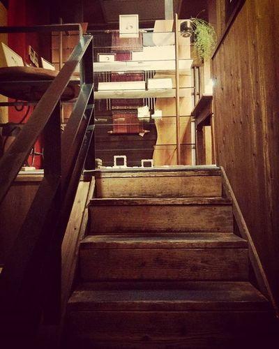 山口県 周南市 陶千矛 階段 木 2階 昭和 レトロ おしゃれ おしゃれ 木のぬくもり