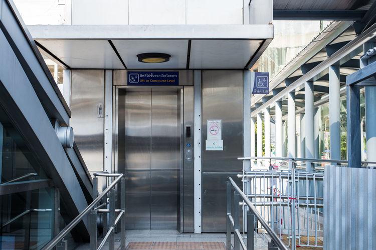 Pathway Leading Towards Elevator In Modern Building