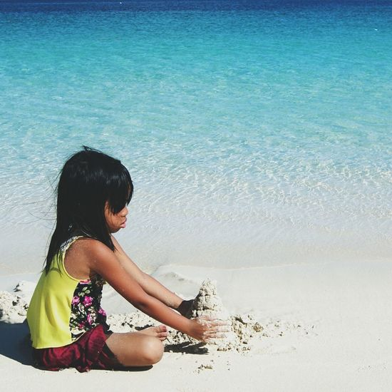 Sand Castles  Calaguasislands People Beach Philippines