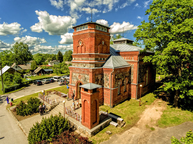 Church Estonia Aerial Aerial View Aerospace Industry Architecture Built Structure Cloud - Sky Day Dronephotography Historical History Old Outdoors Summer Tree Tõrva Valgamaa Weddings