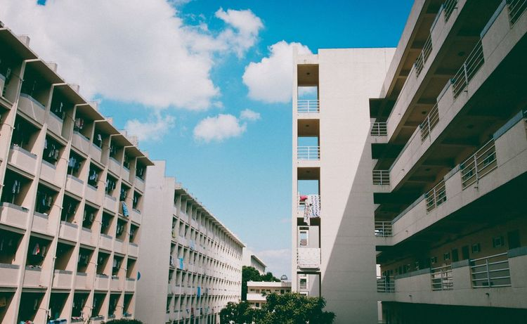 EyeEm Selects Building Exterior Architecture Built Structure Day Low Angle View Sky Window Outdoors No People City Residential Building Cloud - Sky Skyscraper Nature