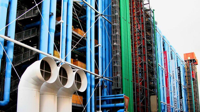 Colors where you don't expect Paris Pompidou Modern Art Architecture Tubes Colorful Inside Out EyeEm Best Shots